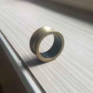 Unique unisex chunky brass ring